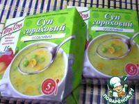 Гороховый суп из брикета: быстрый рецепт