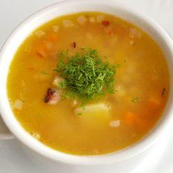 Суп гороховый: самый простой рецепт с копченой колбасой